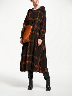 Buy Kin Check Dropped Waist Dress, Multi from our Women's Dresses range at John Lewis & Partners. Laura Slater, Drop Waist, Textile Design, Sportswear, Duster Coat, Kimono Top, Feminine, Jackets, Collection