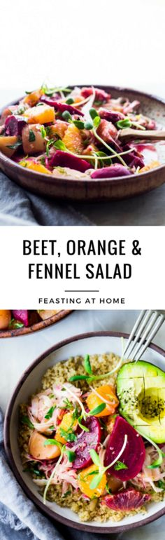 Beet Orange and Fennel Salad // beets, oranges, fennel, red onion, dill/mint, parsley with red wine vinaigrette