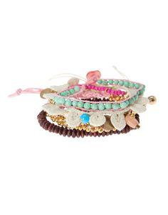 Set seis pulseras crochet