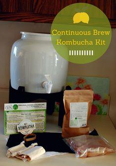 Anyone who brews kombucha will want this! Kombucha on Tap With a Continuous Brew Kombucha Kit