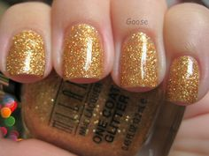 Milani - Gold Glitz I love it without a topcoat because it comes out kinda matte