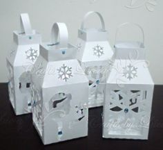 Lanternas Frozen, centro de mesa, silhouette
