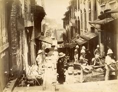 D.K. Griffith - Colonial Government officials disinfecting squatter homes in Victoria, Hong Kong during 1894 plague.