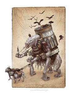 Necrotic Colossus - Keith Thompson - http://www.keiththompsonart.com