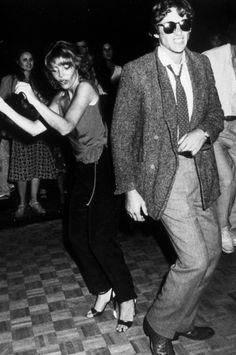Richard Gere and Judy Licht dance at Studio 54, 1979.