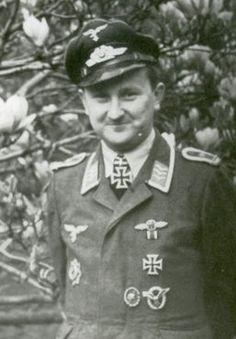 ✠ Hans Döbrich (24 March 1916 – 6 April 1984) RK 19.09.1943 Feldwebel Flugzeugführer i. d. 6./JG 5