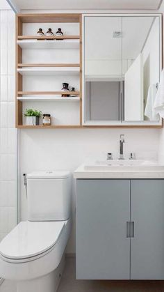 As a place to freshen your body from the hectic daily routines, a bathroom needs to make you feel motivated as soon as you enter it. A clean, neat, an. Bathroom Basin Cabinet, Bathroom Shelves, Bathroom Storage, Condo Design, Home Design Decor, Bathroom Interior Design, Home Decor, Bathroom Layout, Bathroom Colors