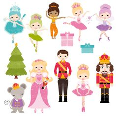SPEND $30+ GET 1/2 OFF YOUR ENTIRE ORDER!! | COUPON: HALFOFF30 Or Click Here: http://etsy.me/2n47zKG to add it automatically to your total. NUTCRACKER SUITE PRINCESS Vector Clip Art - The Nutcracker Suite Ballet, fairies / fairy princess, Snow Queen, Dew Drop Fairy (waltz of the