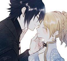 Noctis and Lunafreya Noctis Final Fantasy, Final Fantasy 3, Fantasy Series, Fantasy Art, Anime Couples, Cute Couples, Noctis And Luna, Cute Anime Coupes, Manga Couple