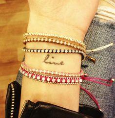 Bracelets and tattoo!!