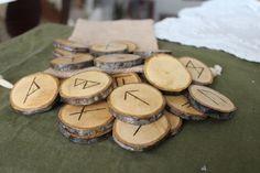 Wood Burned Oak Elder Futhark Runes by FairyFresh on Etsy