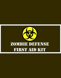 Zombie Survival Kit Part 1: First Aid Kit by KerriChan.deviantart.com on @deviantART