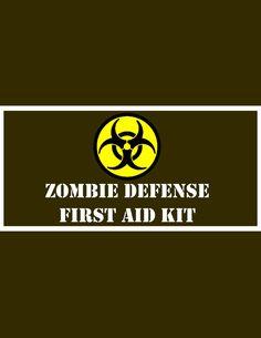Zombie Survival Kit Part 1: First Aid Kit by KerriChan.deviantart.com on @deviantART
