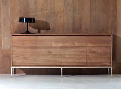 Ethnicraft© - Products » Sideboards »Teak Essential sideboard - 5 opening doors
