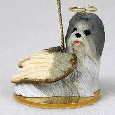 Shih Tzu Mixed Angel Ornament