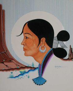 NavajoWoman by Lee Tsatoke Sr, Kiowa