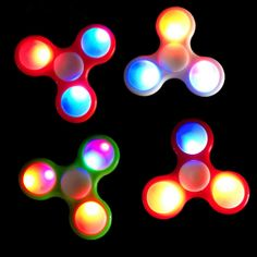 2.18$  Know more - LED Light Tri-Spinner Fidget Toy Plastic EDC Hand Spinner For Autism and ADHD Anxiety Stress Relief Focus Toys Adult Kids Gift   #shopstyle