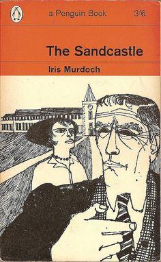 Iris Murdoch: The sandcastle.  Penguin Books 1964.  Cover drawing by Terence Greer. (vintage art, illustration, illustrator)