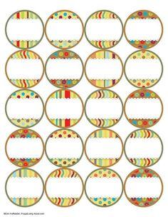 7 Free Printable Canning Jar Labels: Brights Top Labels