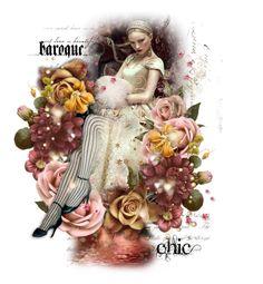 Baroque Chic by poshtrish on Polyvore featuring art, dollset, artset and artexpression