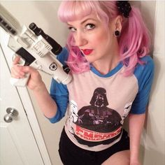 Force girl playing with her blaster. by: force_girls Star Wars Girls, T Shirts For Women, Stars, Instagram Posts, Fashion, Girls, Moda, Fashion Styles, Sterne