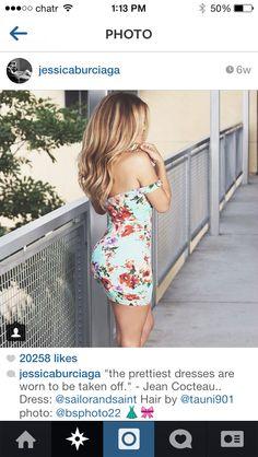 Jessica Burciaga love the floral dress & the quote ; Tight Dresses, Sexy Dresses, I Love Fashion, Passion For Fashion, Fashion Books, Fashion Outfits, Summer Outfits, Summer Dresses, Summer Clothes