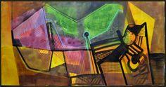 Roberto Burle Marx, Geométrico - panneaux - med. 110 x 215 cm