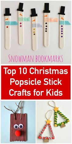 Christmas Popsicle Stick Crafts for Kids via @pinnedandrepinn