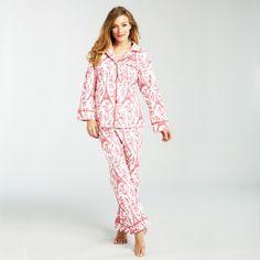 Pyjama Eiffelturm Rot-Elfenbein, 89€, jetzt auf Fab.