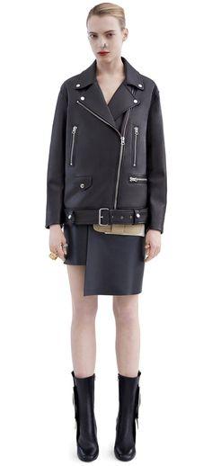 Acne Studios More black Oversized Biker jacket