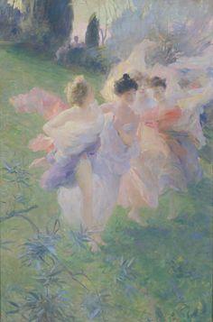 Antoine CALBET (Engayrac, 1860 - Paris 1944). Surprises, 1905, huile sur toile. Inv : 2004 1 191. Non exposée.  © Toulouse, musée des Augustins. Photographie Bernard DELORME.