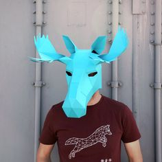 Moose Mask Build your own with these easy to by Wintercroft