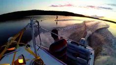 #Wakeboarding on lake Kallavesi, Kuopio, Finland.