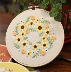 Plants Embroidery Kit For Beginner Modern Flower Patterns Embroidery Kit Hand Embroidery Kit Embroidery Hoop Wall Art Kit Embroidery Materials, Hand Embroidery Kits, Modern Embroidery, Embroidery Hoop Art, Flower Embroidery, Embroidery Patterns, Machine Embroidery, Cross Stitch Material, Cross Stitch Fabric