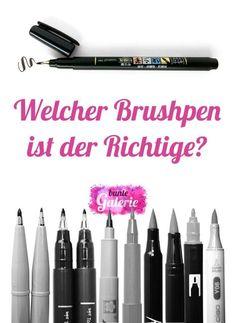 Stifte und Papier für Brush-Lettering
