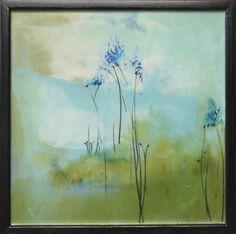 """Encaustic — Mel Rea :: Petite Fleurs #13 :: 16""""x16"""" :: sold"""