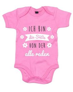 Baby Bodysuit - I'm the sweetheart everyone talks about - Süße Baby Bodys und lustige Strampler - KidFashion Baby Outfits, Outfits For Teens, Plotter Silhouette Cameo, Teen Presents, Full Skirt Dress, Baby Girl Names, Baby Kind, Baby Shirts, Baby Party