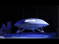 Jupiter 2 four foot spaceship landing at Cosmic Films Studio