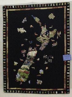 New Zealand map quilt Map Quilt, Quilts, Map Globe, Cartography, Map Art, Pin Cushions, New Zealand, Bing Images, Art Decor