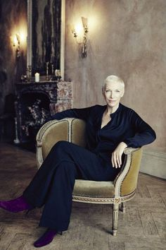 Annie Lennox received the Harper's Bazaar Philanthropy Award at The 2016 Women Of The Year Awards