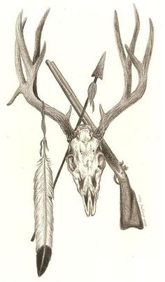 deer+skull+tattoo+pics | Mule deer skull design in Commisioned Tattoo Designs by