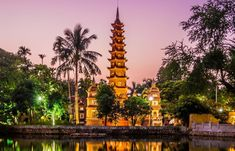 A Temple in Hanoi Vietnam