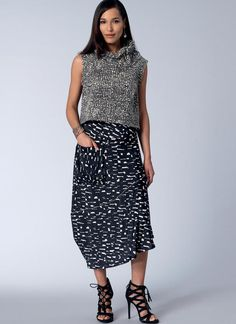 Today's Fit by Sandra Betzina for Vogue Patterns. V1515 top and skirt sewing pattern.