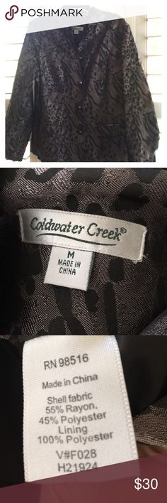 Coldwater Creek Jacket Button down jacket. Fully lined. Excellent condition. Coldwater Creek Jackets & Coats