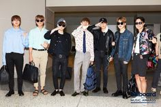 Jin-mom and NamJoon-dad with their 5 kids.