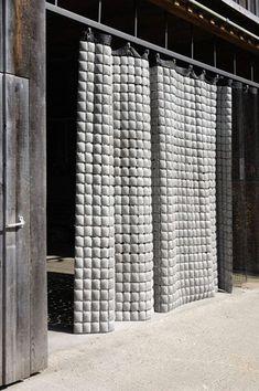 Concrete Curtain by Memux