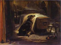 The Old Shepherd's Chief Mourner. 1837 by sir edwin landseer. Snif Snif