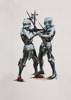 "ritasv: "" sierrabravoblog: "" Kampf zu Fuß / Fight on foot "" 15th Century Armour by Paul Francis Walker """