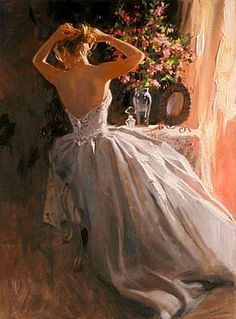 Artist - Richard S Johnson...appreciate the color in the dress and the flow