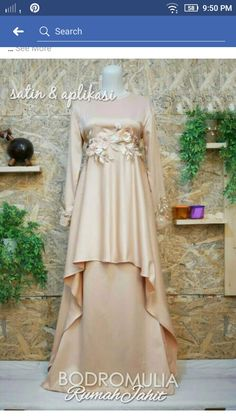 Muslim Gown, Muslim Long Dress, Kebaya Dress, Dress Pesta, Hijab Fashion, Fashion Dresses, Hijab Stile, Bridesmaid Dresses, Wedding Dresses